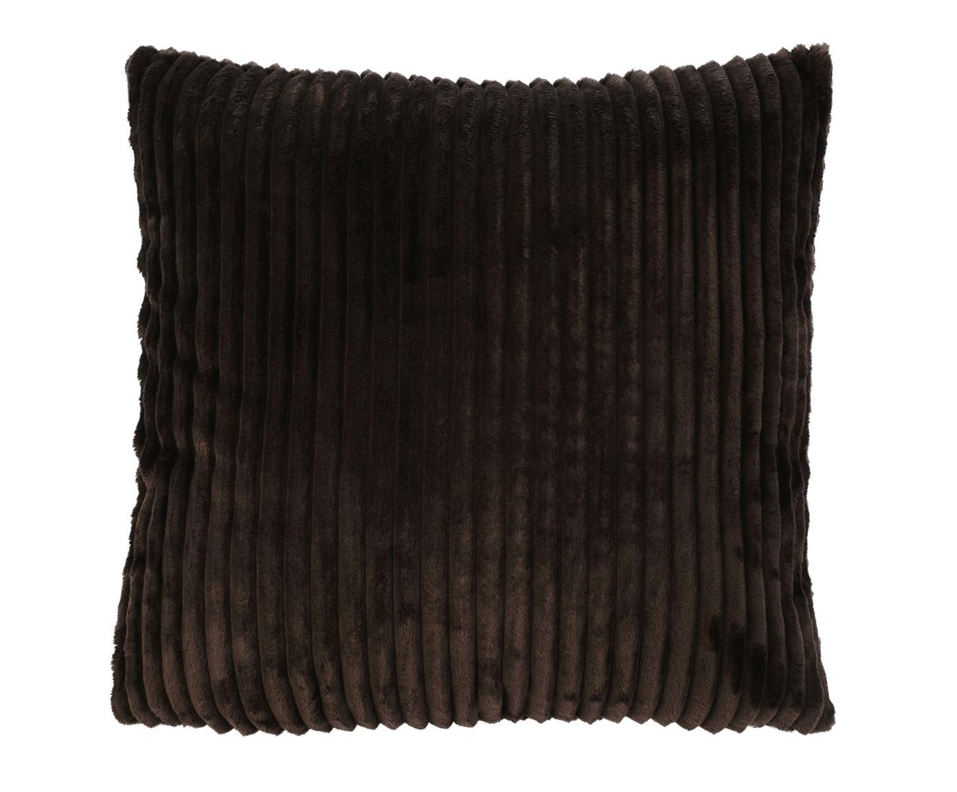 Kissen (gefüllt) Cord Optik 50x50 dunkelbraun